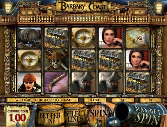 main game board featuring five reels and thirty paylines by Casino Bonus Beater