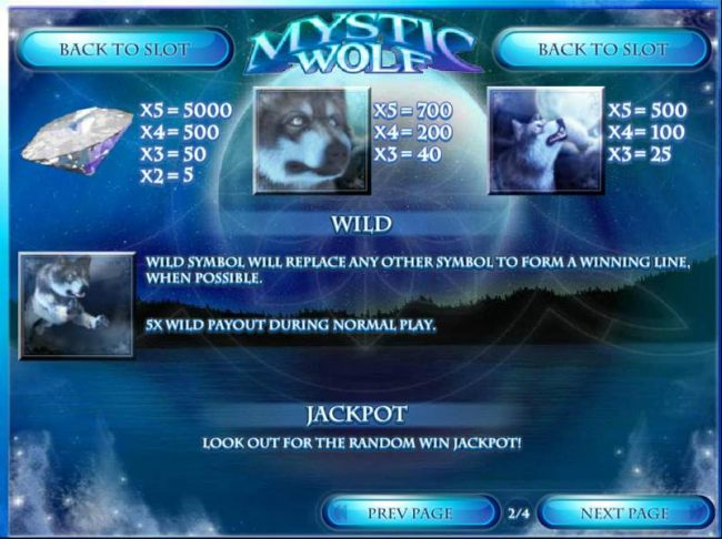 Wild and Jackpot rules