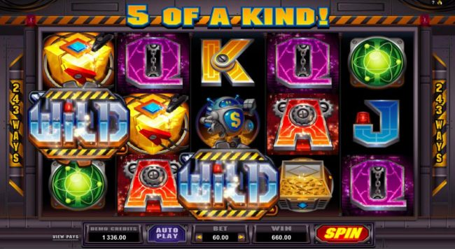 A pair of wild symbols trigger triggers a winning combintion that leads to a 660.00 big win!
