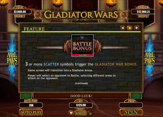 Casino Bonus Beater image of Gladiator Wars