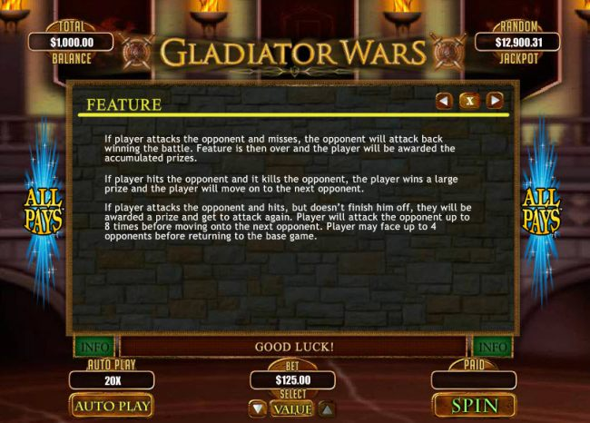 Gladiator Wars by Casino Bonus Beater