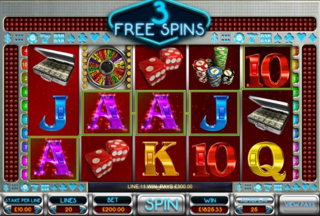 Multiple winning paylines triggered during the free spins bonus feature.