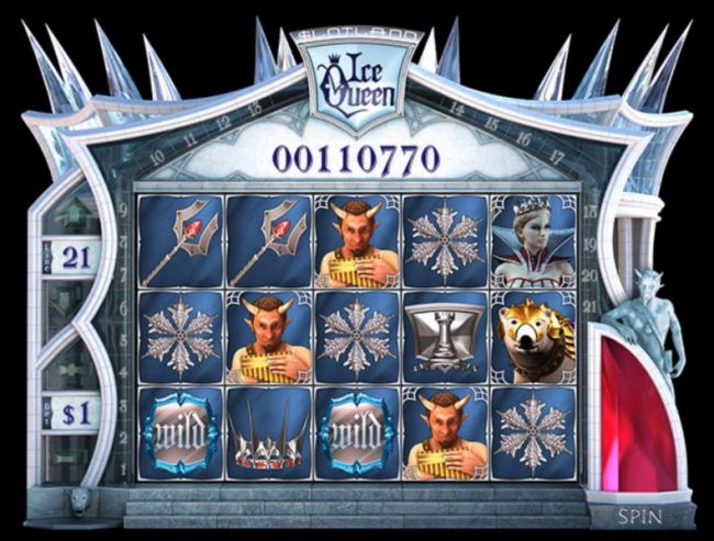 Casino Bonus Beater - Main game board featuring five reels and 21 paylines