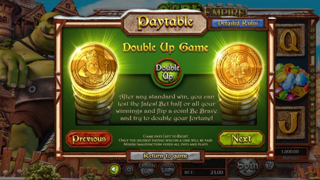Heads of Tails Double Up Game - Casino Bonus Beater