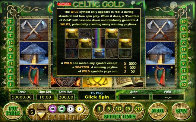Celtic Gold screenshot