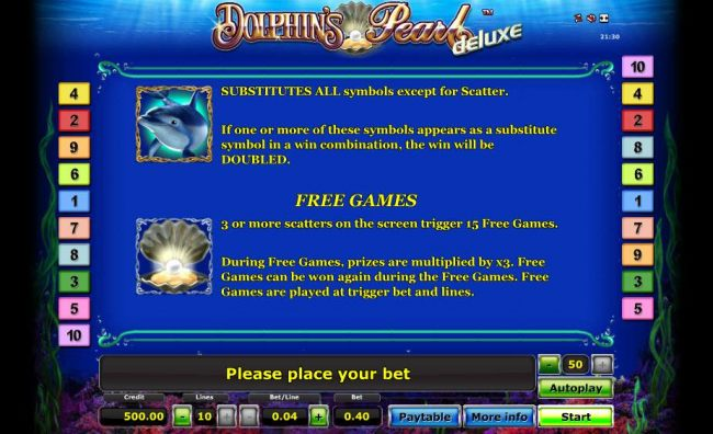 wild symbol and free games rules