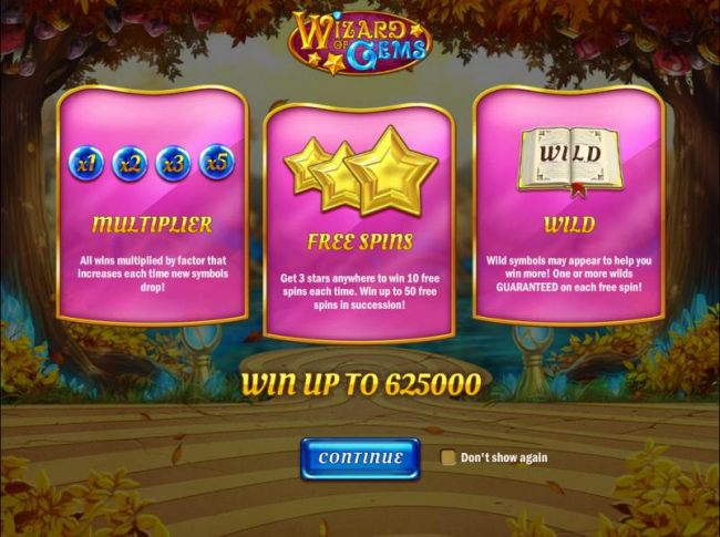 game features include x1 to x5 multipliers, up to 50 free spins and guaranteed wilds on each free spin!