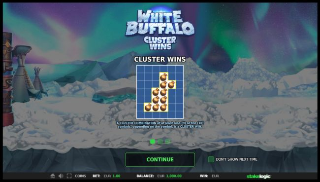 Images of White Buffalo Cluster Wins