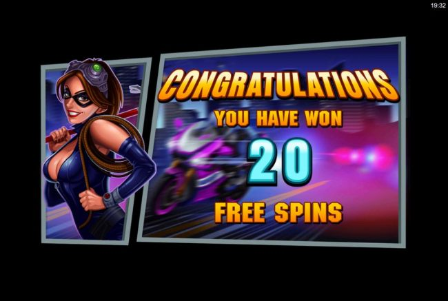 Player is awarded 20 free spins. - Casino Bonus Beater