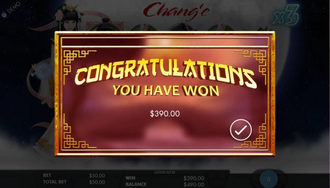 Free Spins feature pays out a total of 390.00