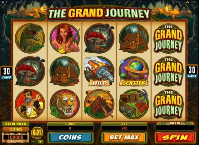 Main game board featuring five reels and 30 paylines with a $12,000 max payout by Casino Bonus Beater