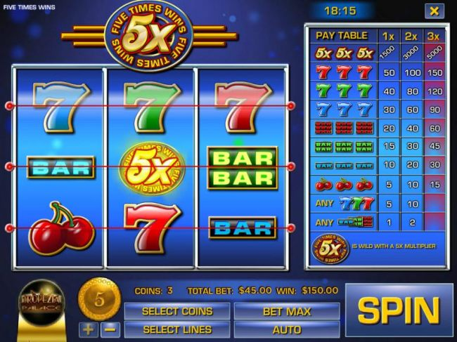 Five Times Wins by Casino Bonus Beater