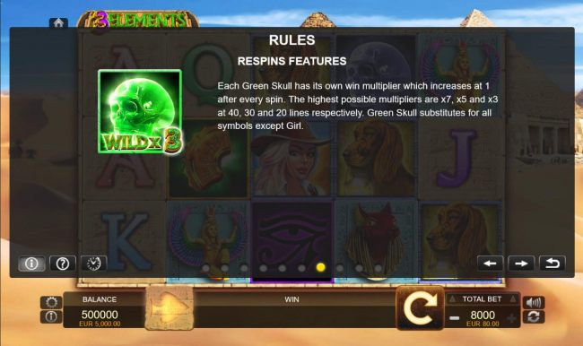Respins Features - Green Skull