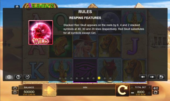 Respins Features - Red Skull - Casino Bonus Beater
