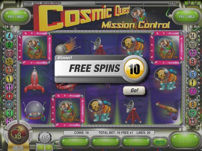 Images of Cosmic Quest Mission Control