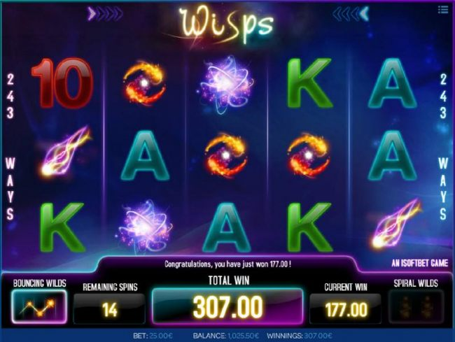 A 177.00 payout awarded after bouncing wilds triggers multiple winning paylines - Casino Bonus Beater