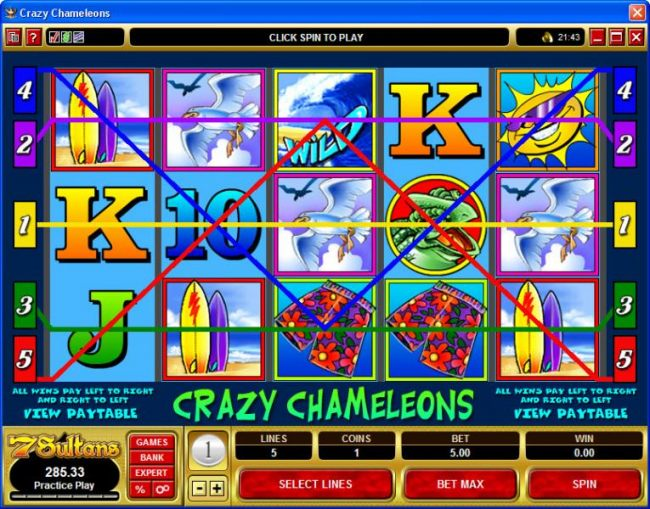 Casino Bonus Beater image of Crazy Chameleons
