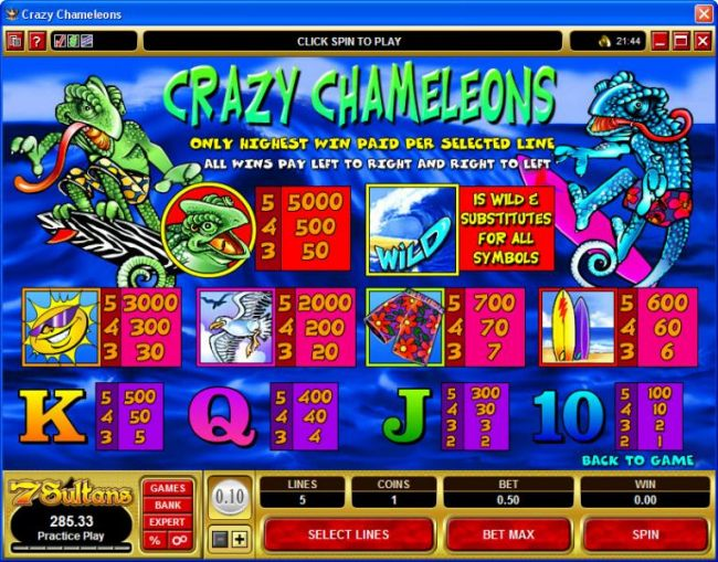 Crazy Chameleons by Casino Bonus Beater