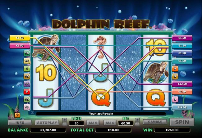 re-spin feature pays out a total of $260 - Casino Bonus Beater