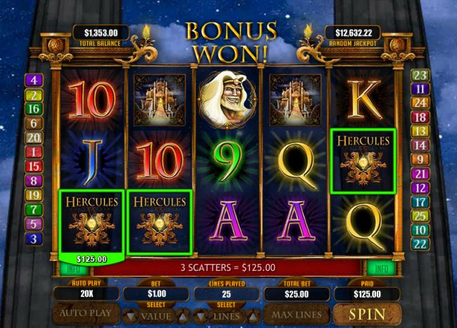 Scatter win triggers the free spins feature by Casino Bonus Beater