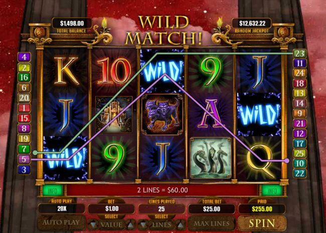 Multiple winning paylines by Casino Bonus Beater