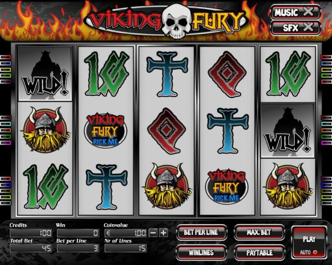 Main game board featuring five reels and 15 paylines with a $7,500 max payout. by Casino Bonus Beater
