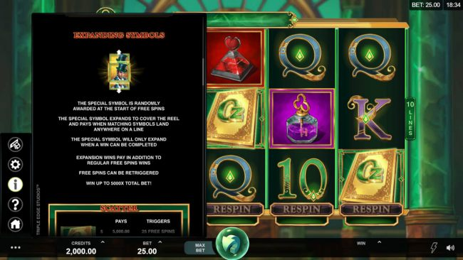 Casino Bonus Beater image of Book of Oz Respin Feature