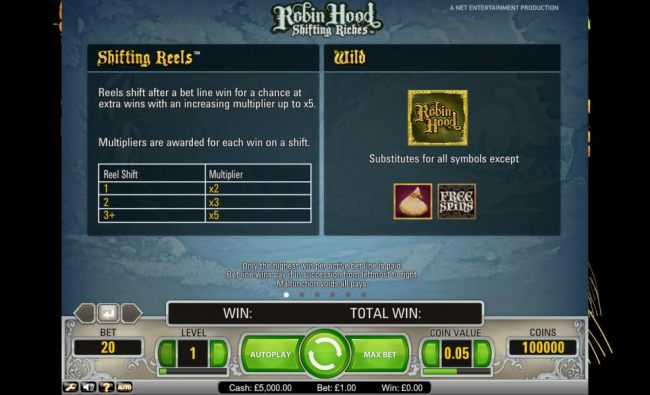 Robin Hood Shifting Riches shifting reels and wilds - Casino Bonus Beater