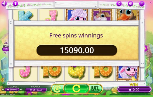 Total Free Spins Payout