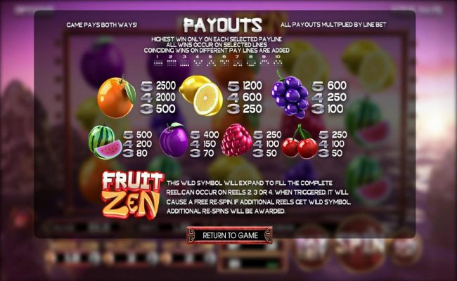 Fruit Zen screenshot