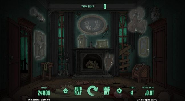 Select objects from around the room to reveal cash prizes. Finding the ghost will move you to the next level. - Casino Bonus Beater