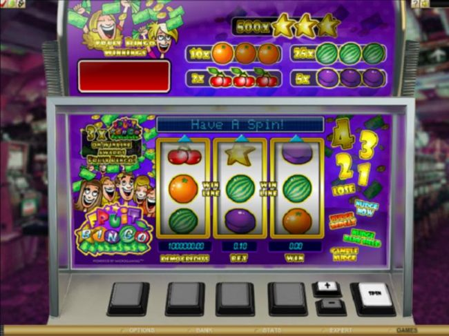 Images of Fruit Bingo