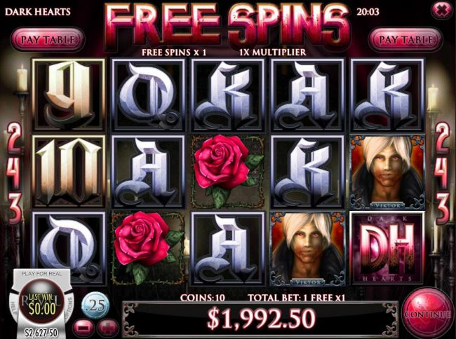 Total free spins payout 1992 coins
