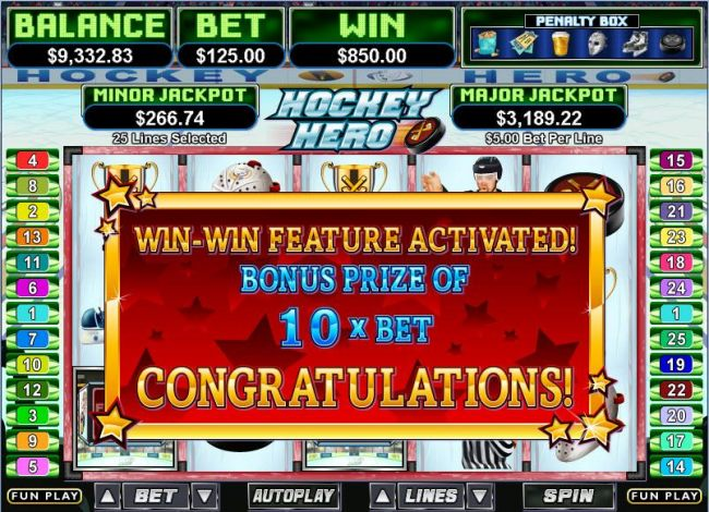 Hockey Hero by Casino Bonus Beater