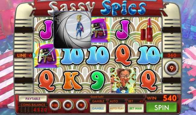 Casino Bonus Beater - Free Spins feature pays out a total of 540 credits