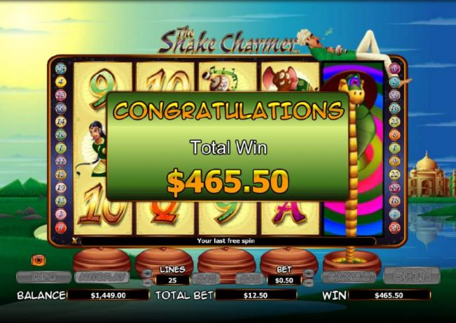 Casino Bonus Beater - the free games feature paid out a $465 big win