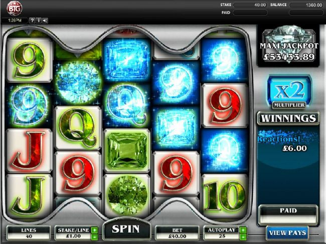 Casino Bonus Beater - Here is a Reaction in action across the reels.