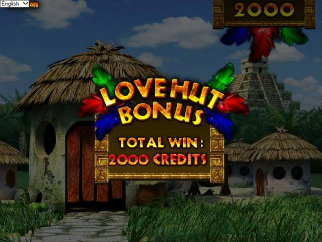 the love hut bonus feature pays out a total of 2000 coins by Casino Bonus Beater
