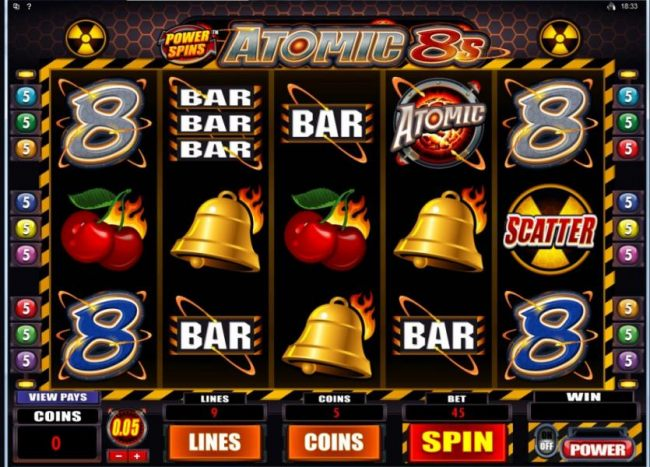 Main game board featuring five reels and 9 paylines with a $80,000 max payout - Casino Bonus Beater
