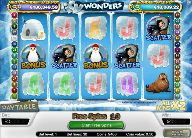three or more scatter symbols triggers the free spins feature