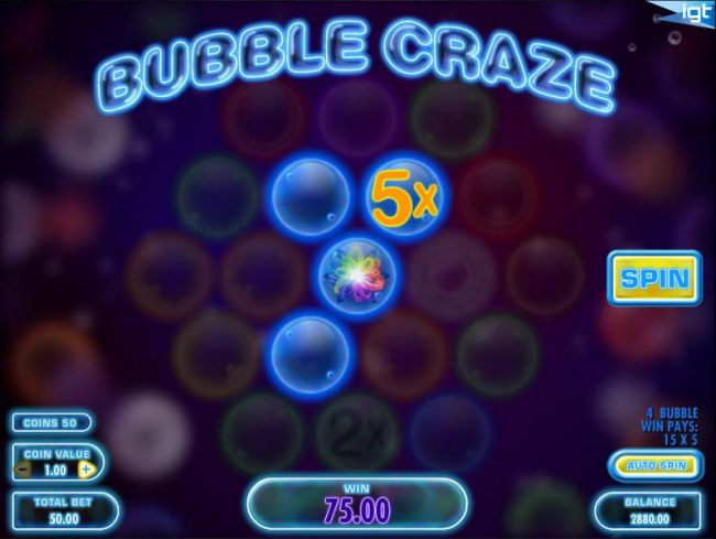 Casino Bonus Beater image of Bubble Craze