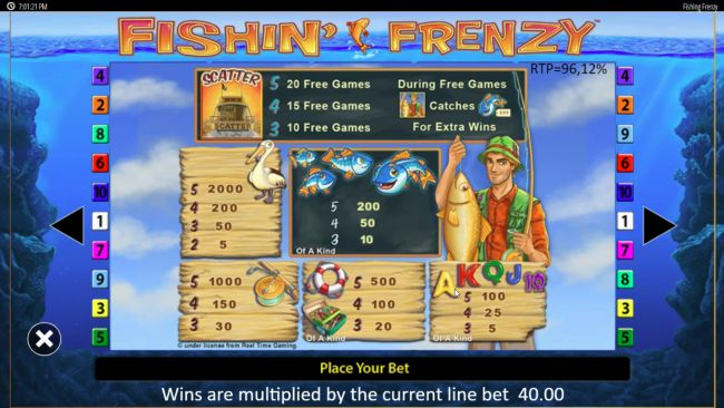 Casino Bonus Beater image of Fishin' Frenzy