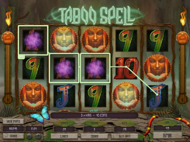 Witch doctor free spins triggered