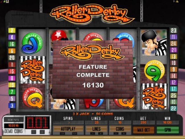Casino Bonus Beater - the feature completed with a whooping 16130 coin jackpot