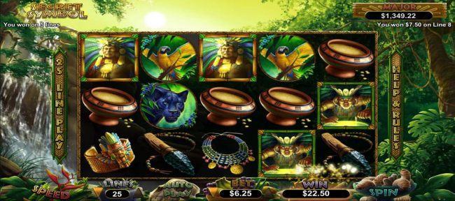 Five winning paylines triggers a 22.50 payout. by Casino Bonus Beater