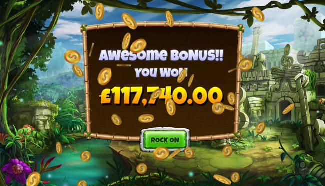 Total free games payout 117740 coins