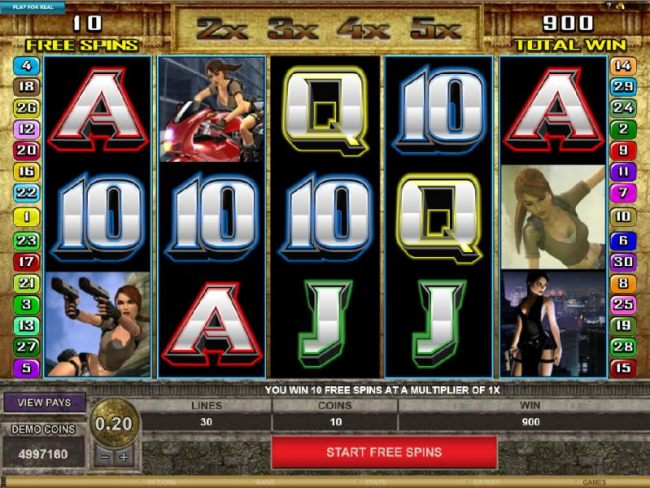 Free Spins Feature Game Board
