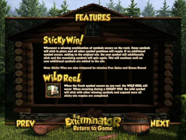 sticky win and wild reel feature rules