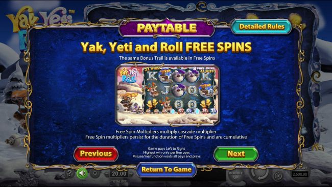 Yak Yeti and Roll by Casino Bonus Beater