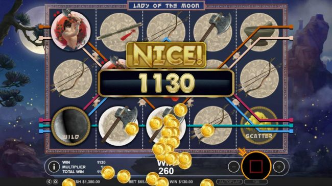 A 1,130 coin jackpot awarded for free spins play. - Casino Bonus Beater